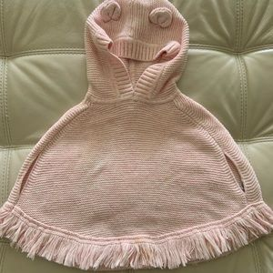2T Pink Poncho Baby Gap. Great condition.